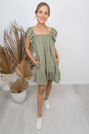 Hadley Dress -Khaki
