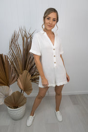 Hilary Playsuit -white