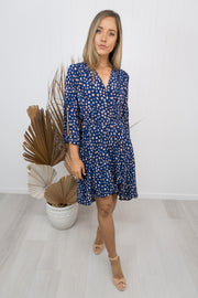 Peyton Dress -Navy/speckle