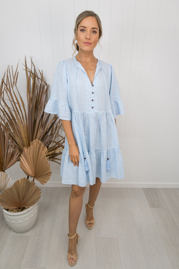 Ella Dress - Blue/white gingham