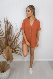 Hilary Playsuit -rust