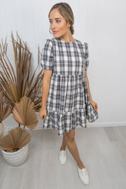 Emily Dress -Black/white check