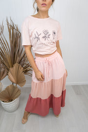 Audrey Skirt -Blush/pink