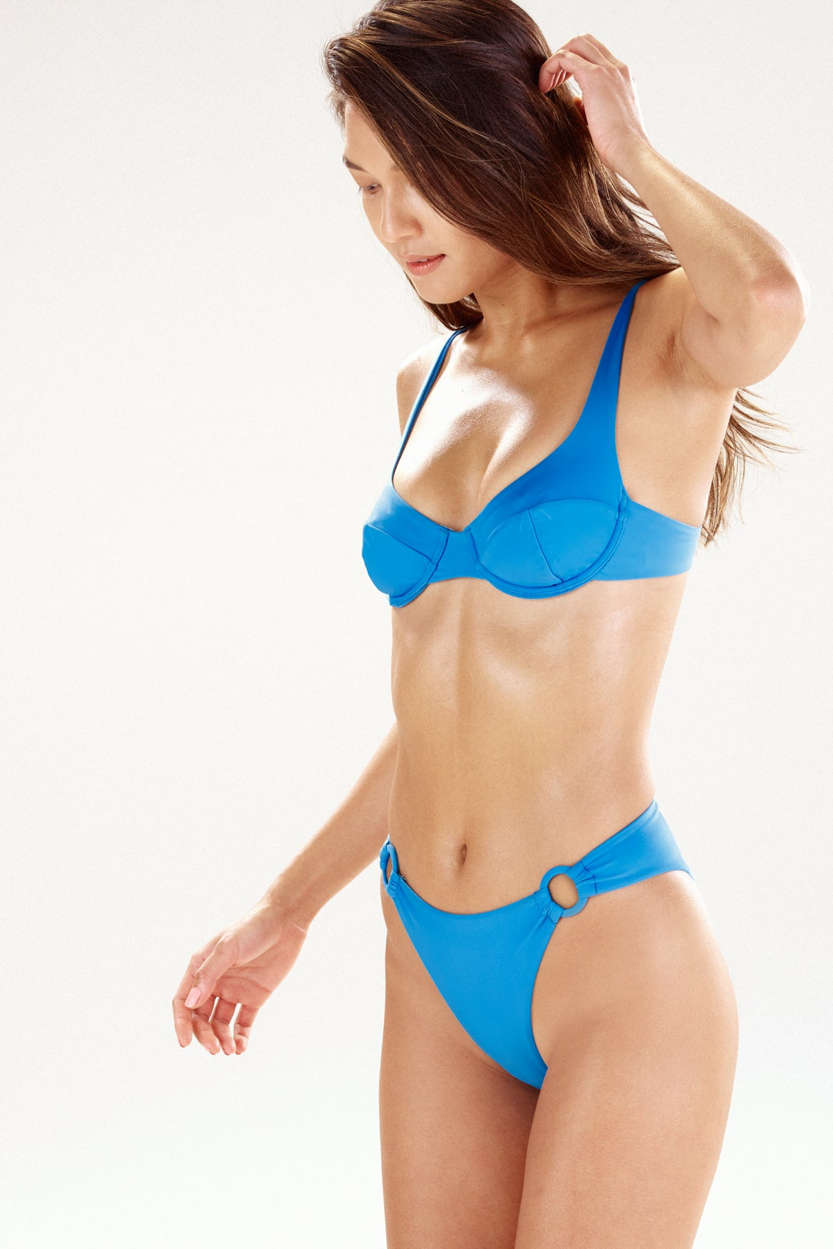 Blue bikini top and bottom | the Como by Ookioh