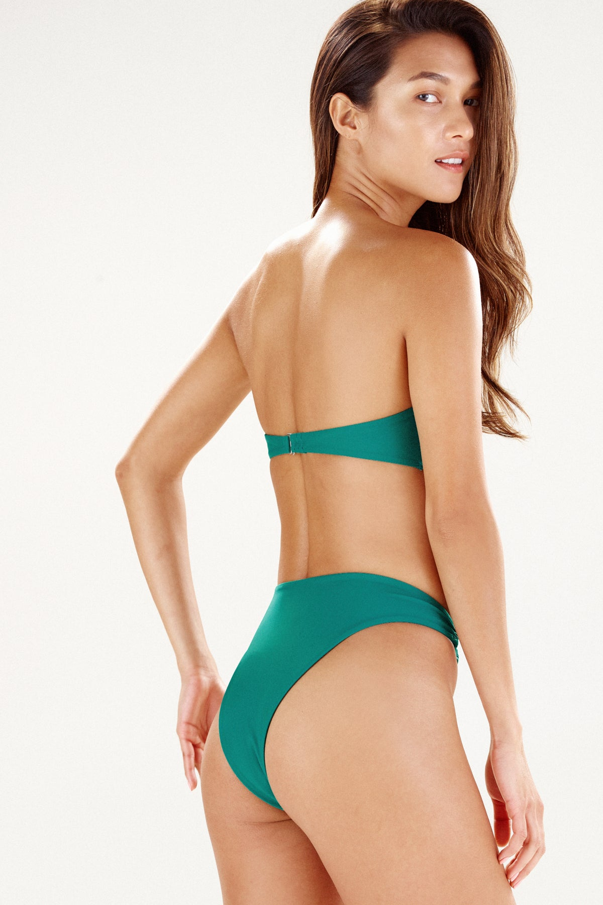 Back view of Monaco bikini bottom in palm