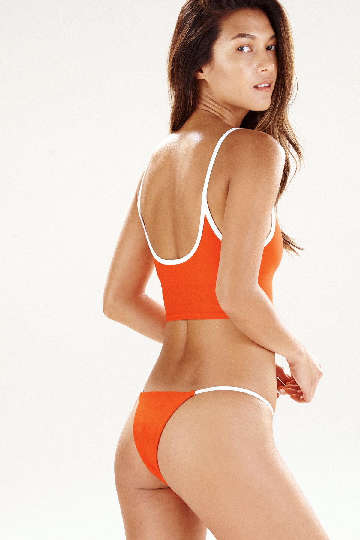 Women's swimwear | orange bikini, the Cayman, by Ookioh