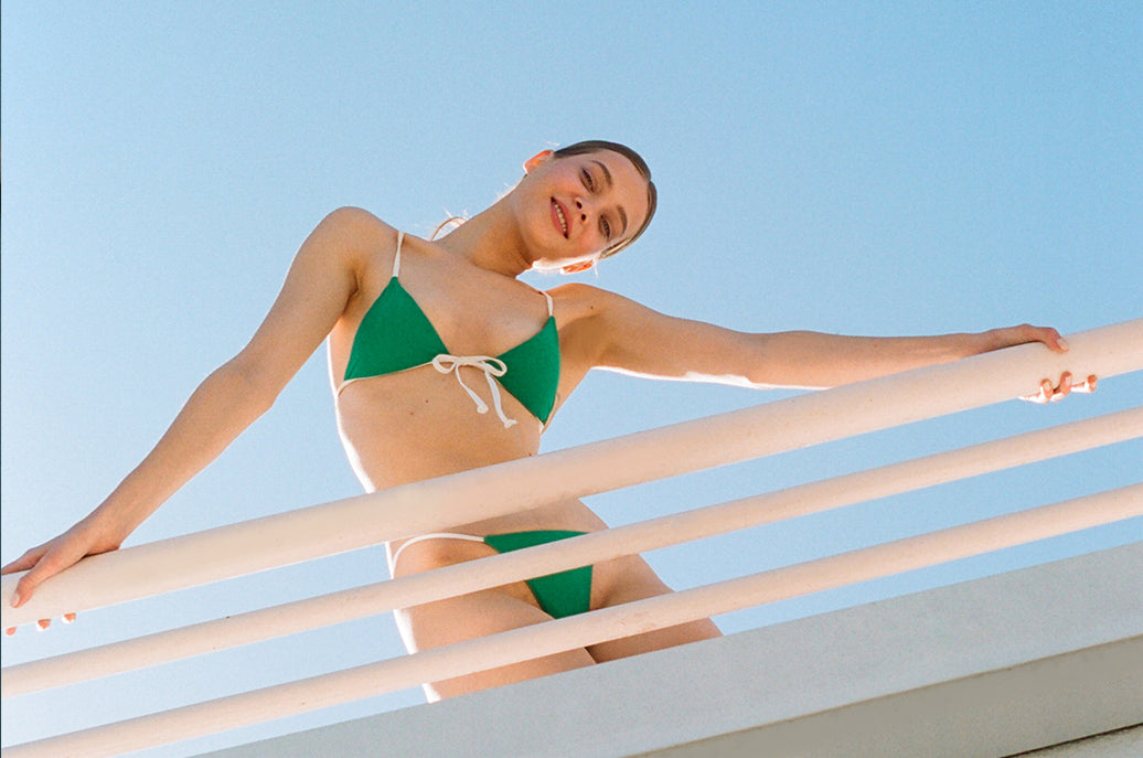 Girl in in green Cayman bikini by Ookioh