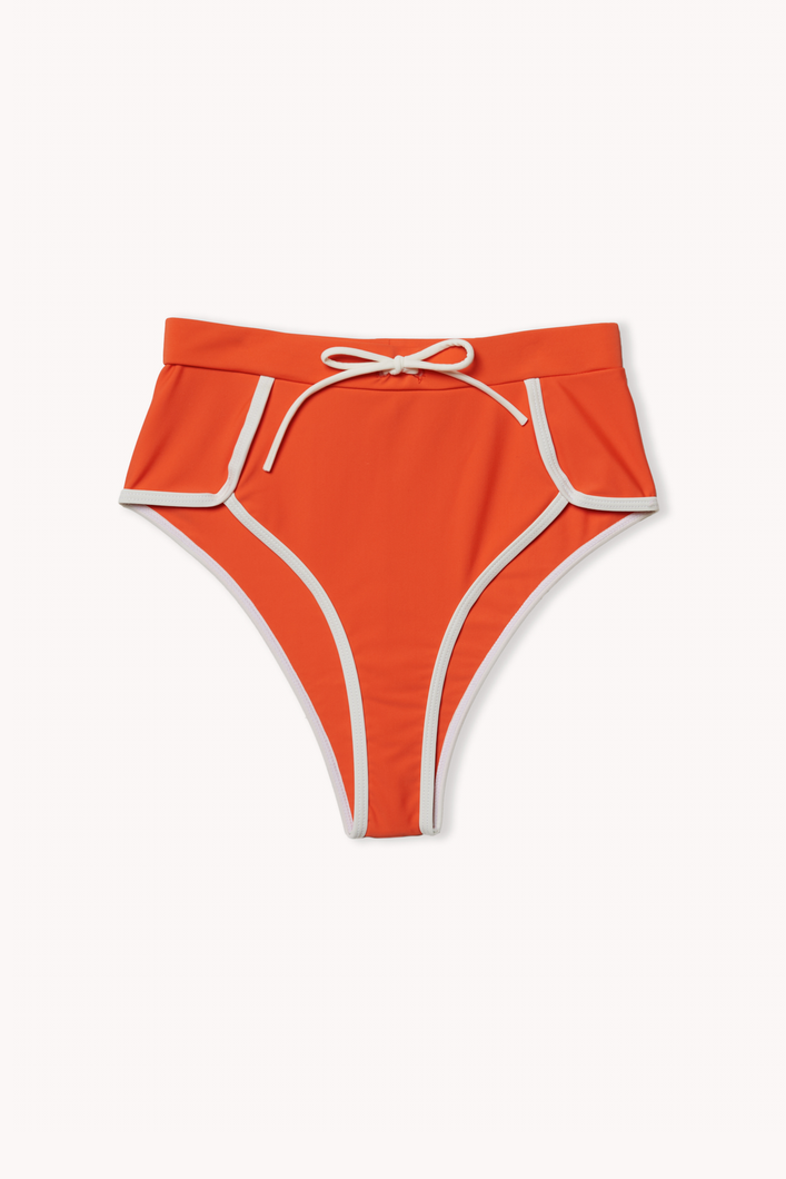 Ecomm shot of Portland bikini bottom in tangerine
