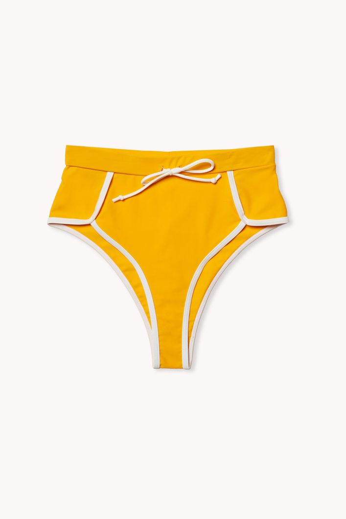 Ecomm shot of Portland bikini bottom in marigold