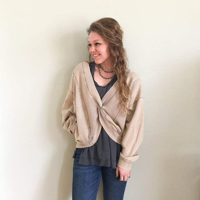 Free People Go For gold pullover
