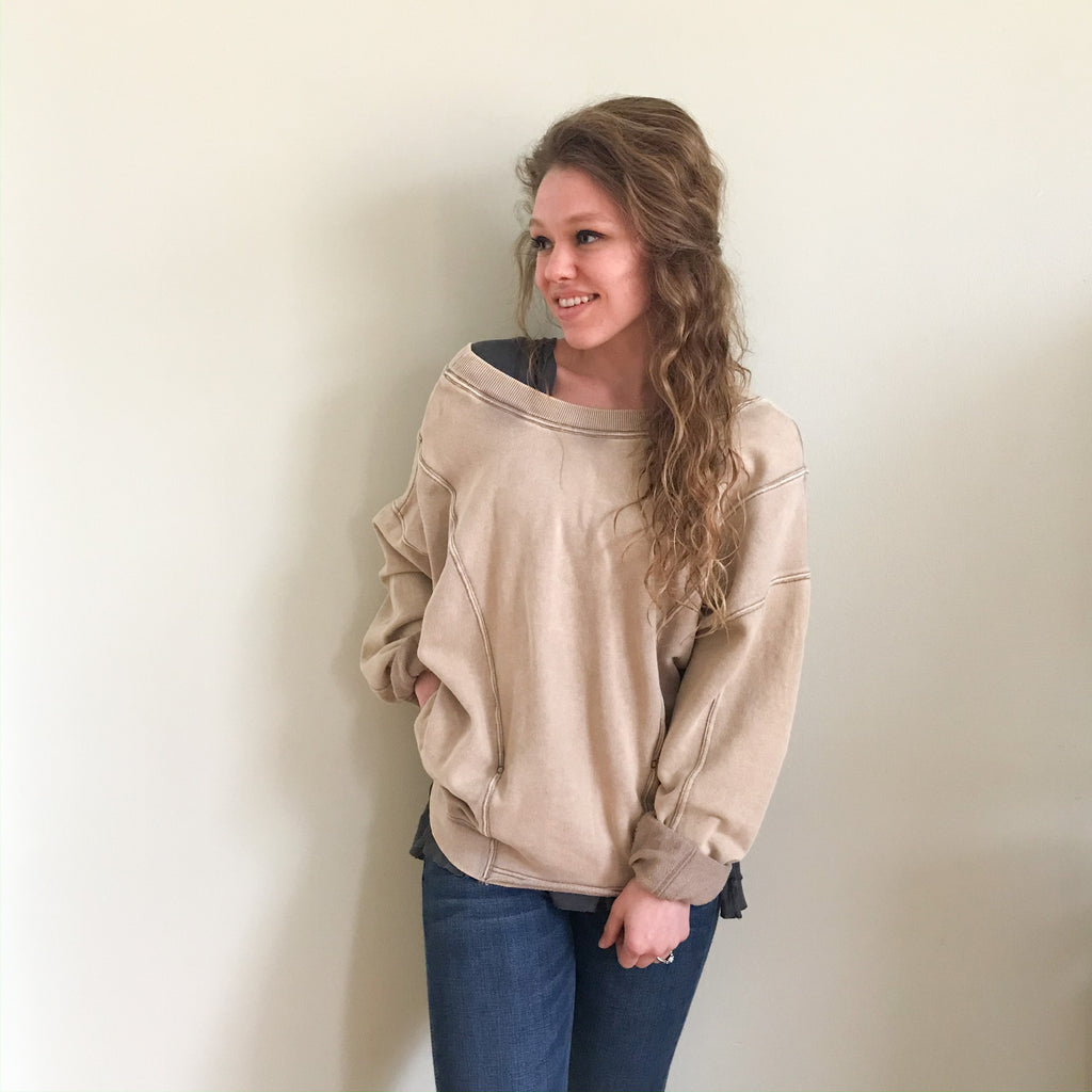 RESTOCKED! Free People Go For gold pullover