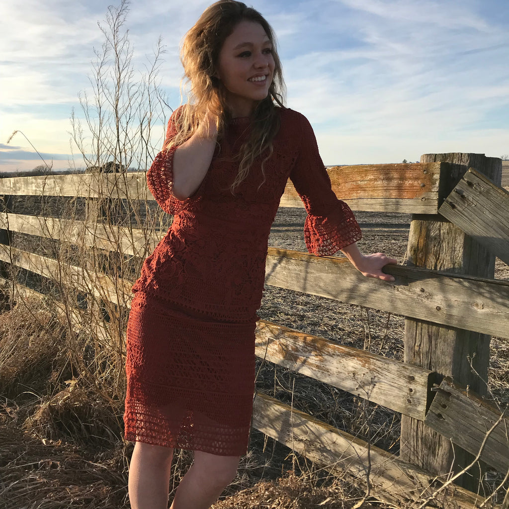 Santa Fe Sunset Dress, bodycon dress, - Refined Peddler Apparel