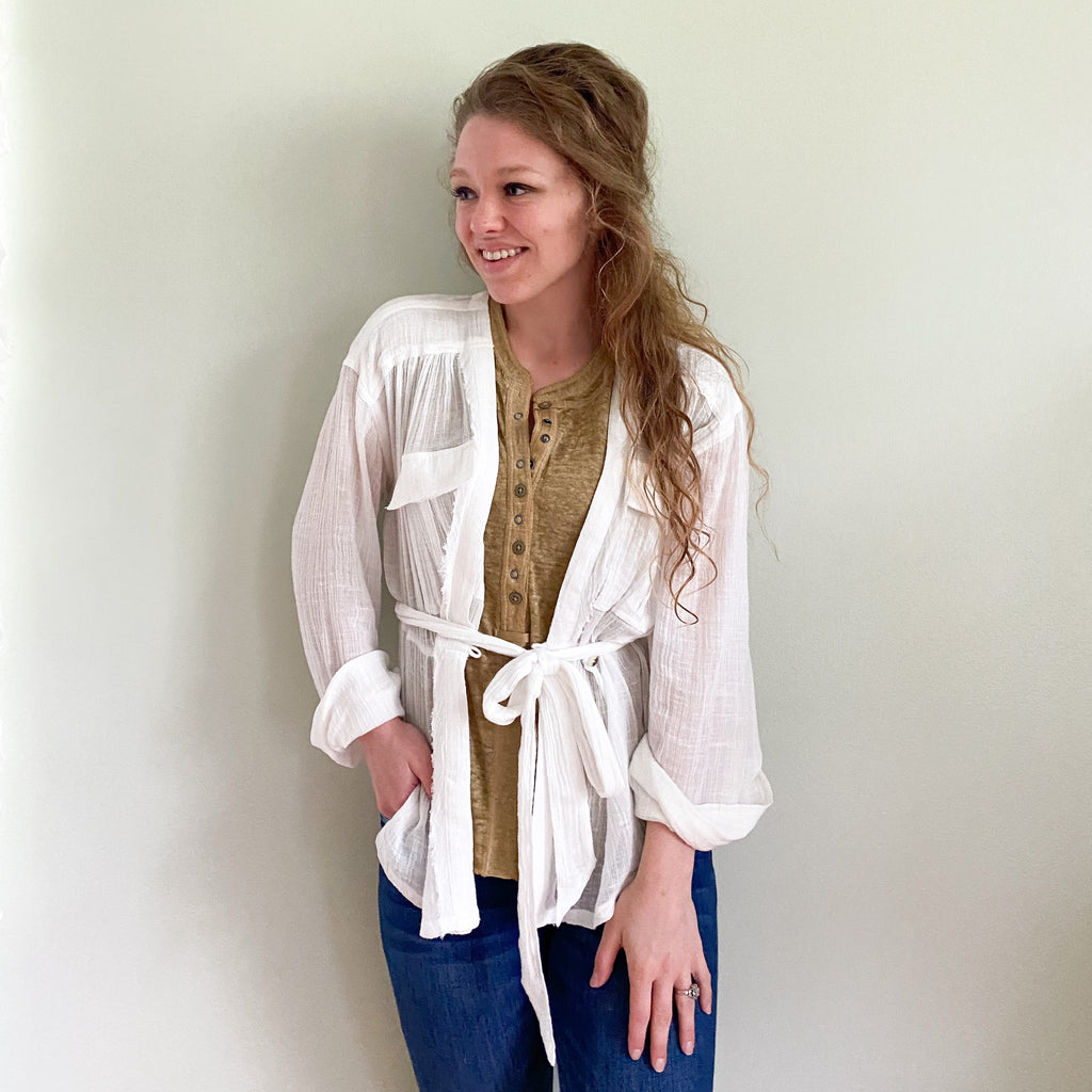 Free People Safari Wrap Top