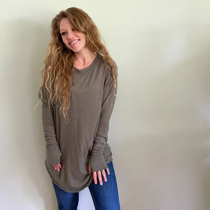 [RESTOCKED] Free People Arden Tee Olive