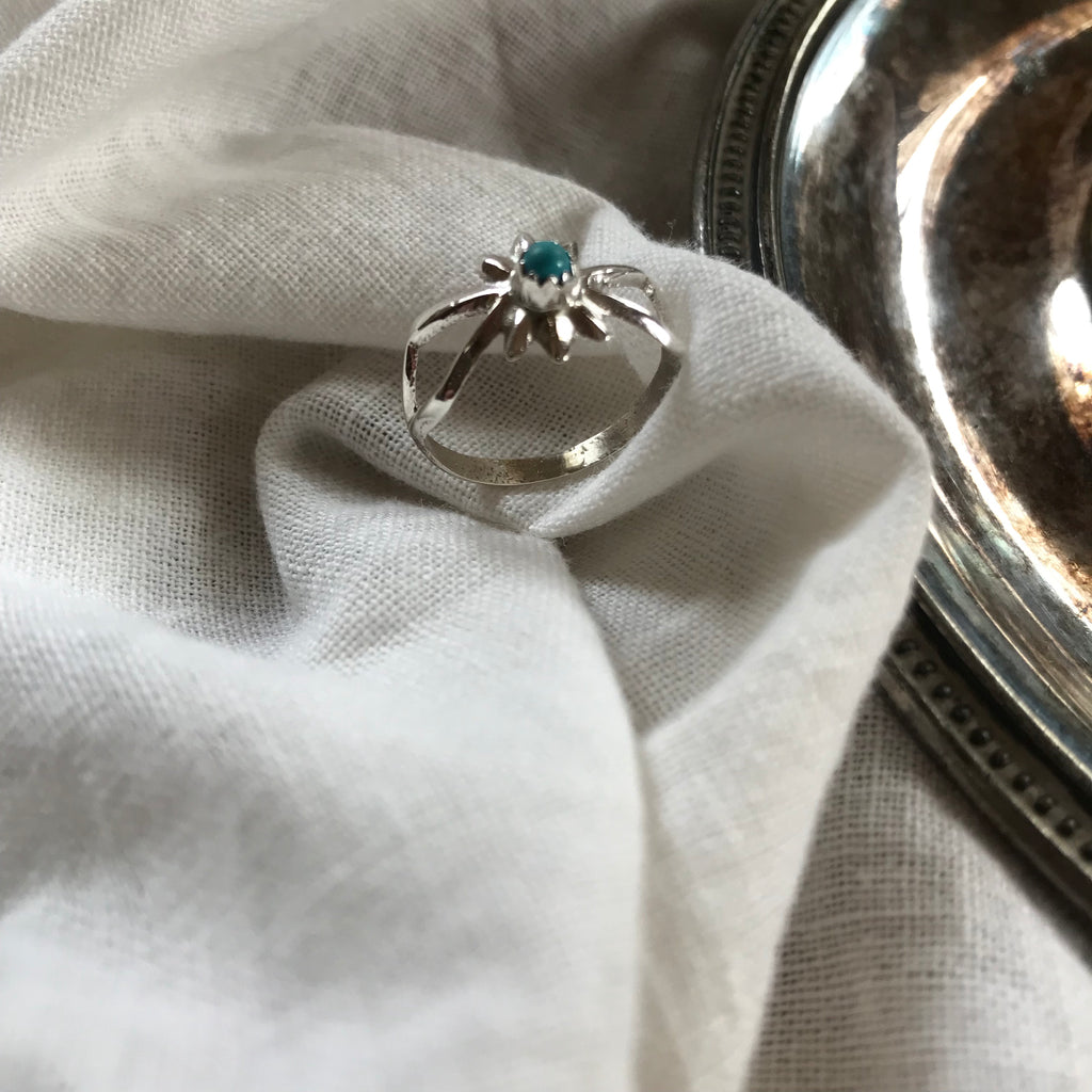 Sunburst Turquoise Ring, ring, - Refined Peddler Apparel