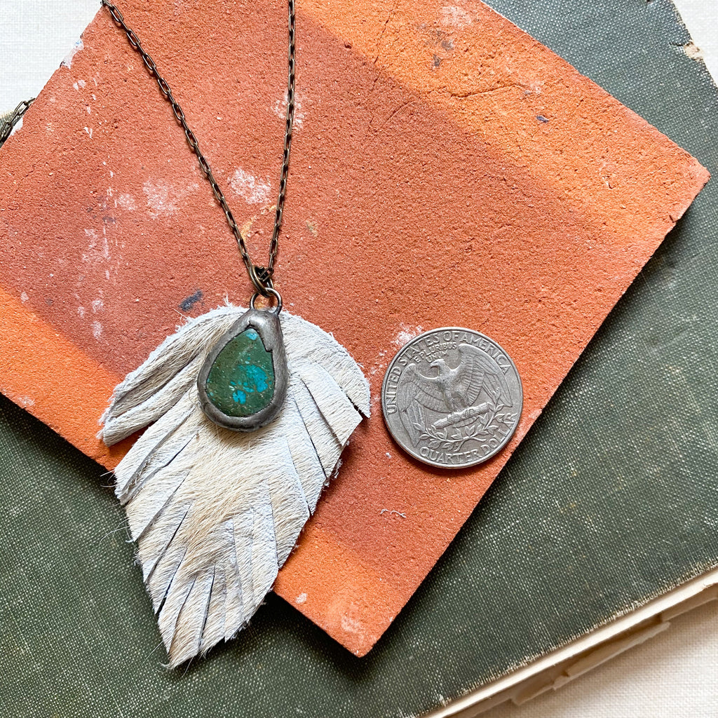 Harlow Feather necklace
