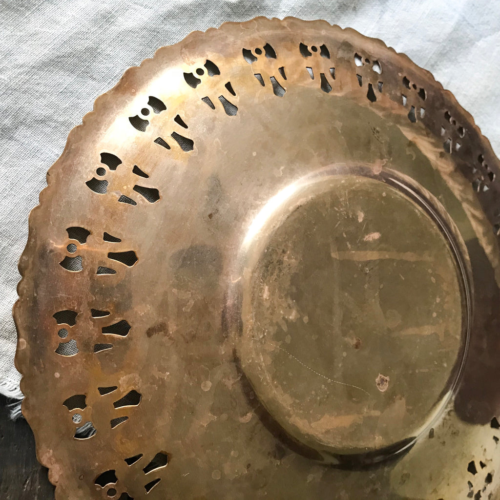 Evelyn Brass plate