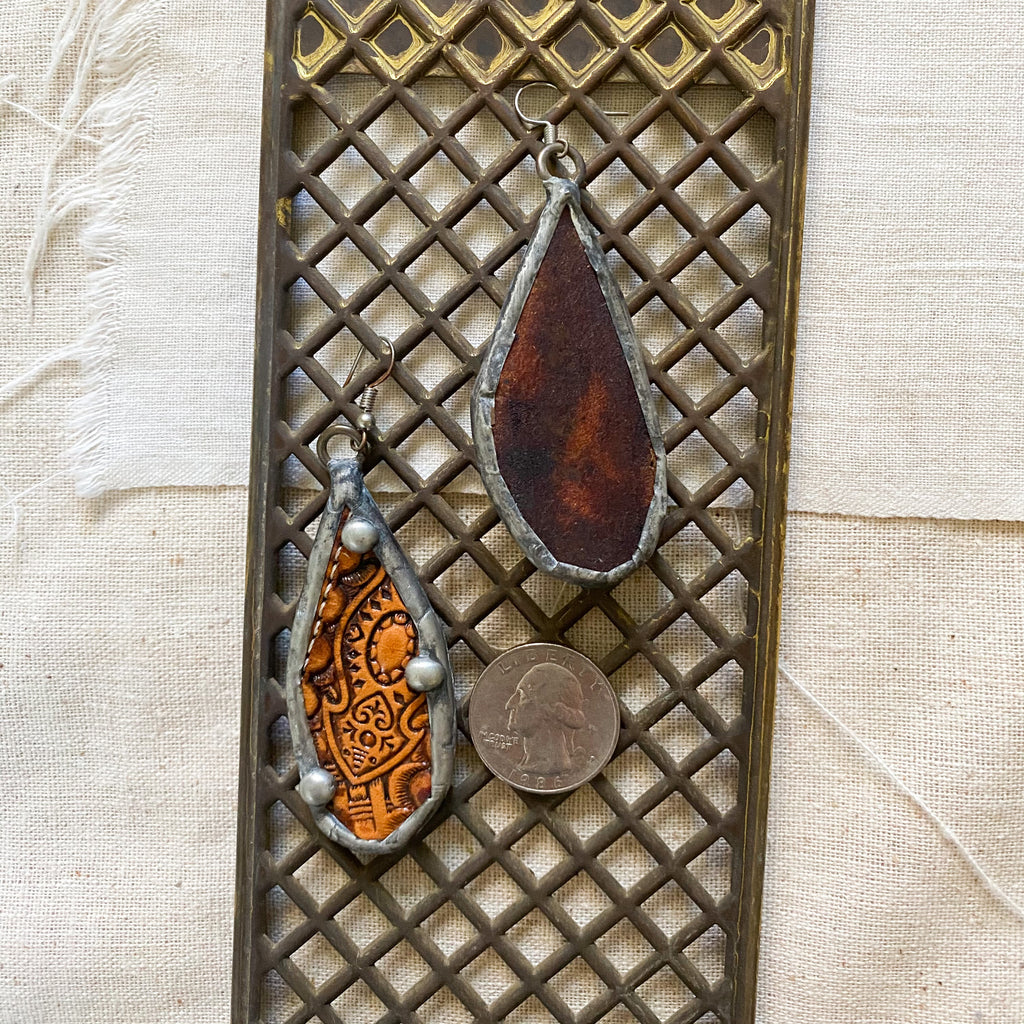 Newson leather earring