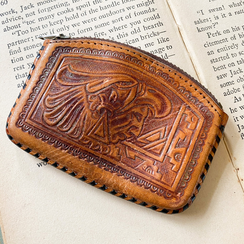 McCoy's tooled leather purse