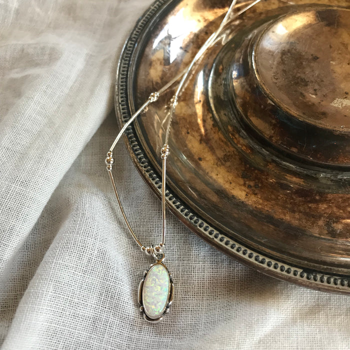 Free rain Opal necklace, necklaces, - Refined Peddler Apparel