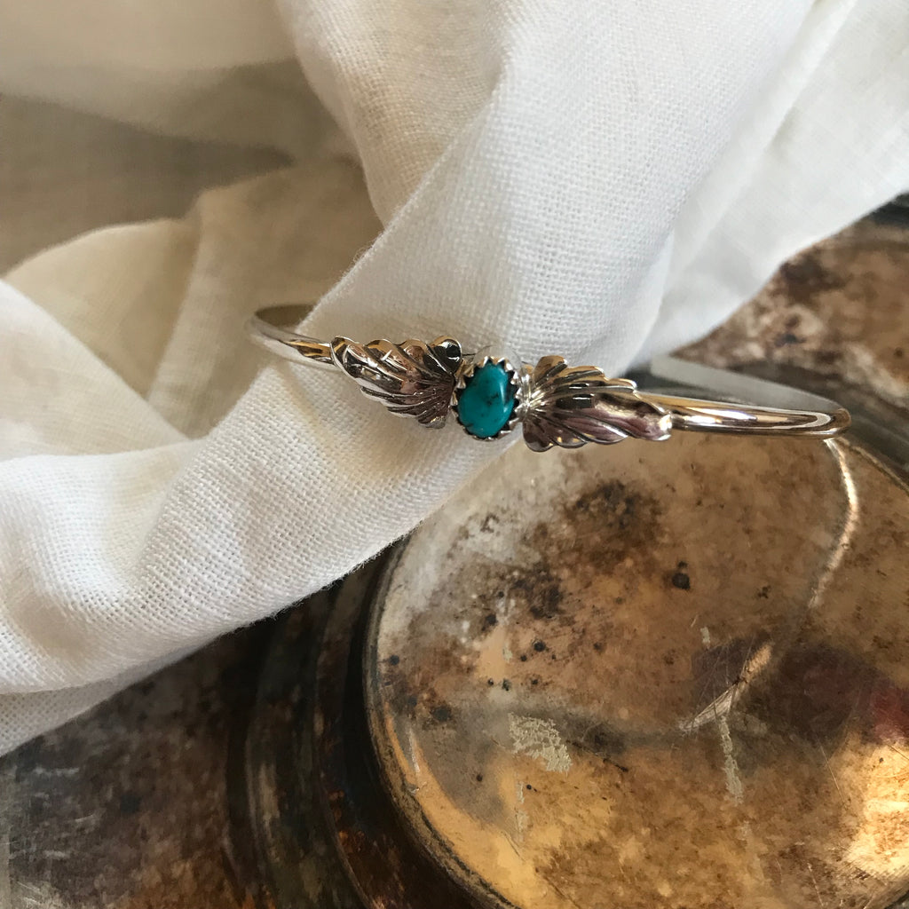 Sterling & turquoise cuff, bracelets, - Refined Peddler Apparel