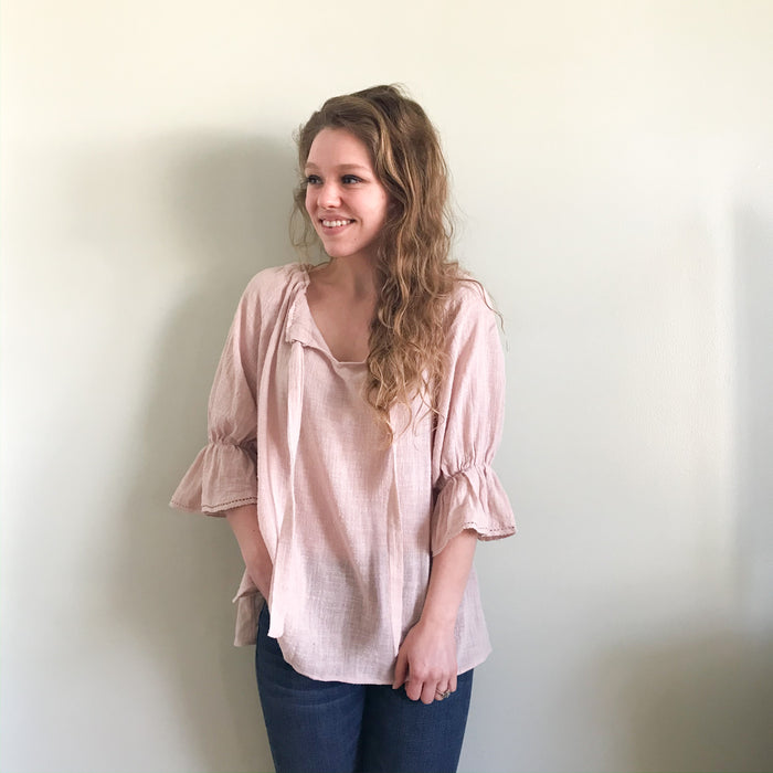 Phoebe blush blouse