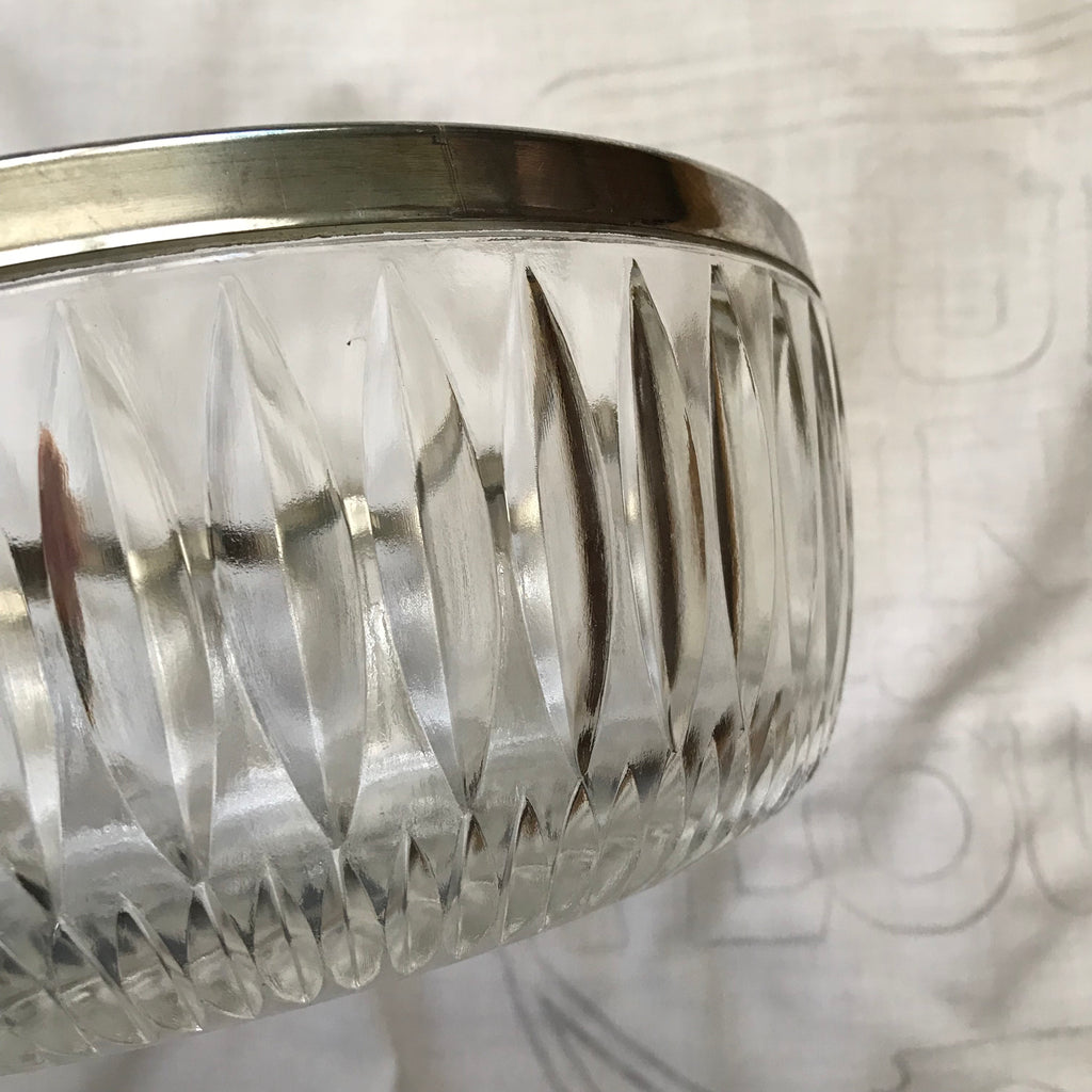 Silver Plated Crystal Bowl
