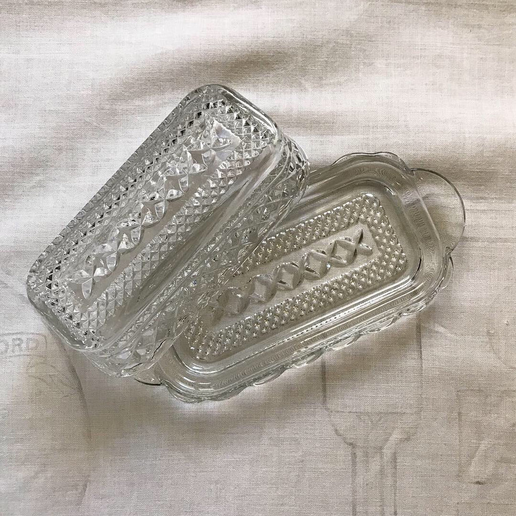 Farmhouse butter dish