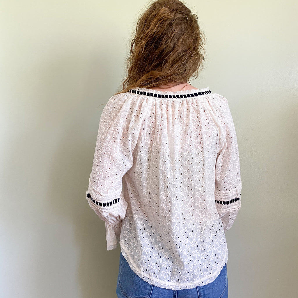 Free People Darcy Eyelet Blouse
