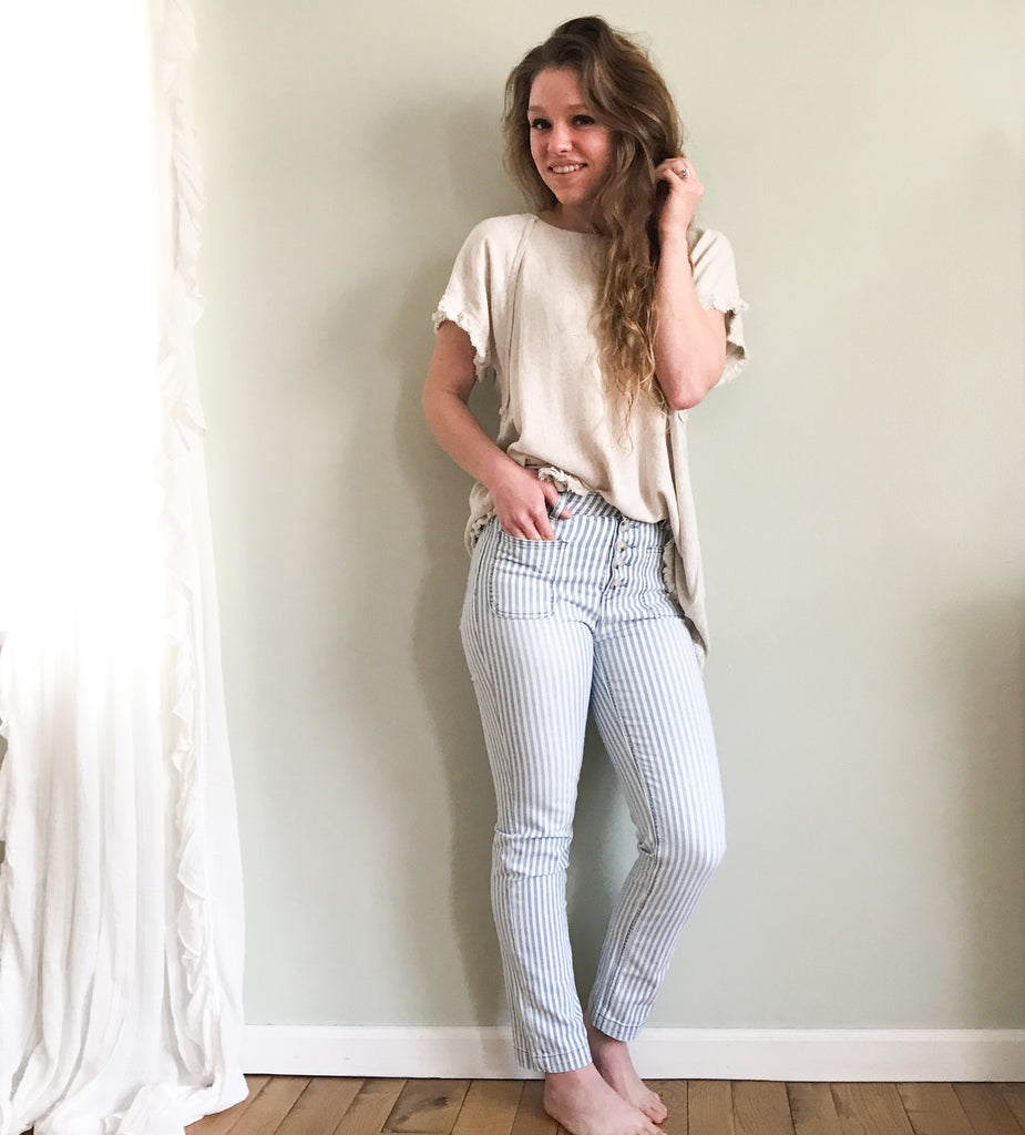 Tex Striped Jean