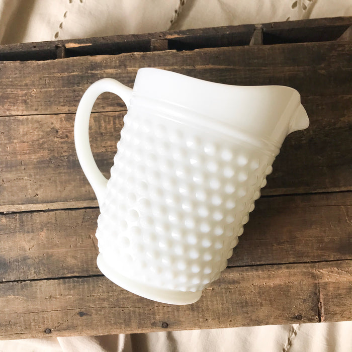 Federal hobnail pitcher