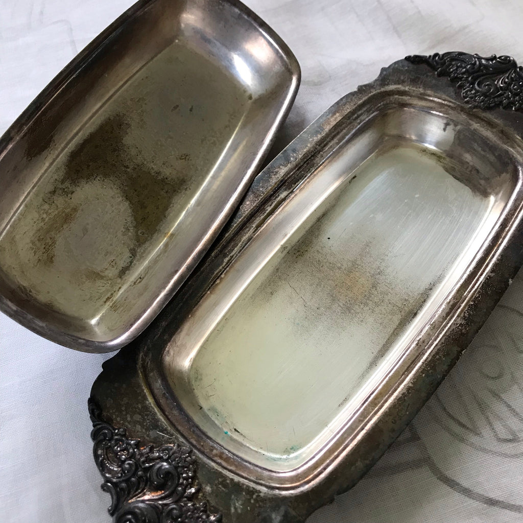 Sterling butter dish