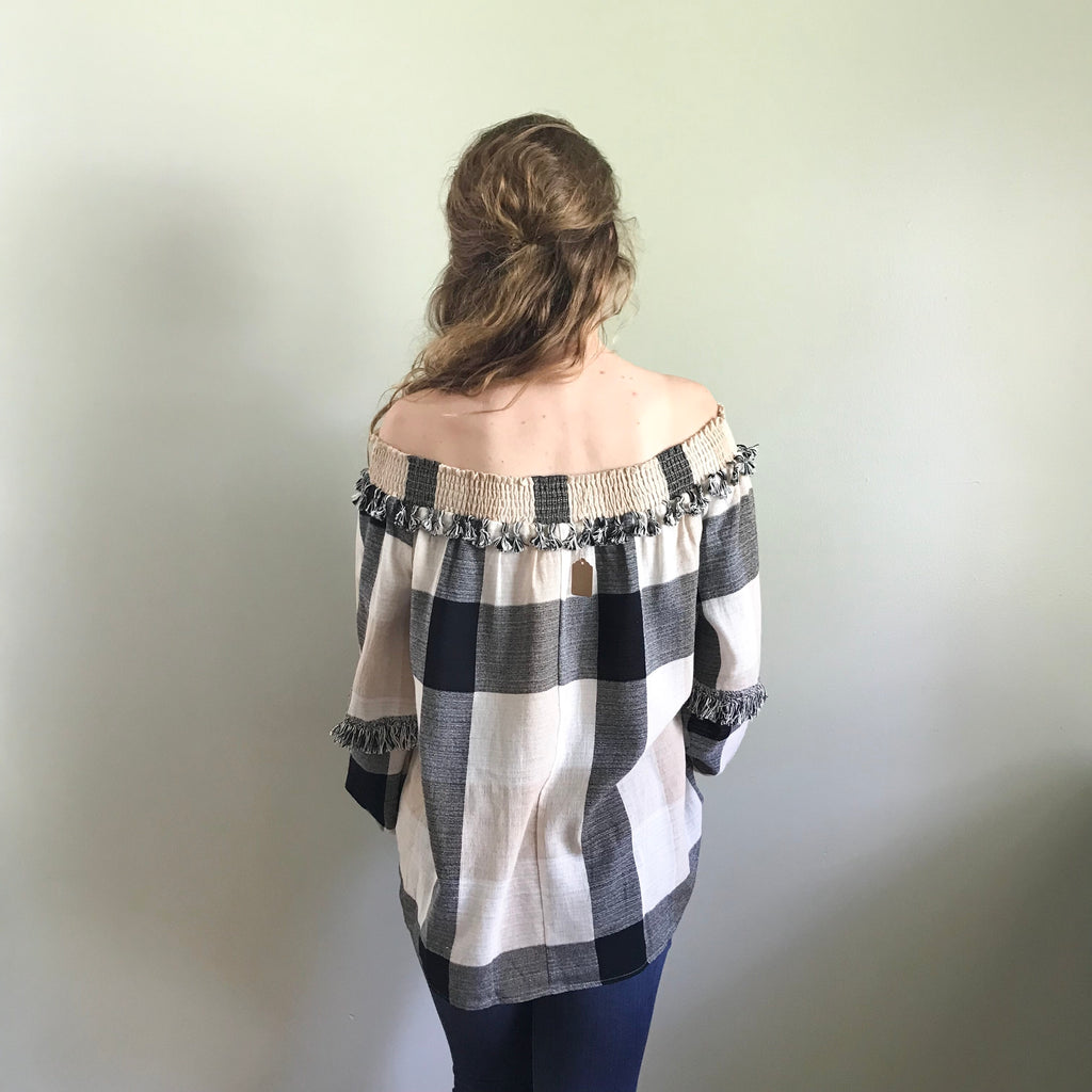 Hattie plaid blouse