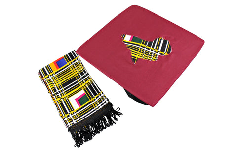 kente stole and cap topper