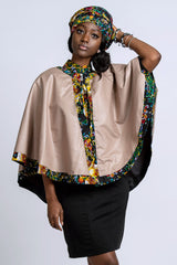 african print cape for women