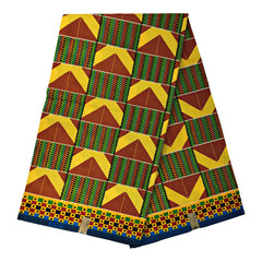 Kente African print fabric 6 yards