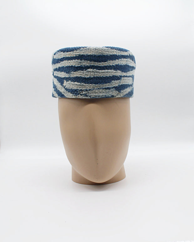 Authentic hand woven Ndop fabric hat for men - Afrilege