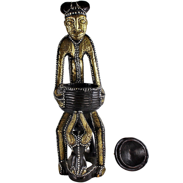 Copper & Brass Hand Carved African Statue collectibles - Afrilege