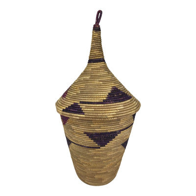 African Traditional Lidded Basket - Burundi - Afrilege