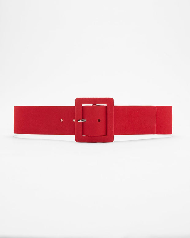 Ayana Red Waist Belt with buckle - Afrilege