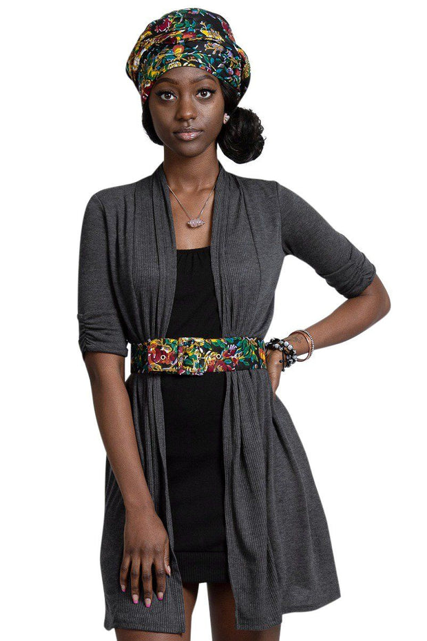 Fabia African Print Waist Belt with buckle - Afrilege