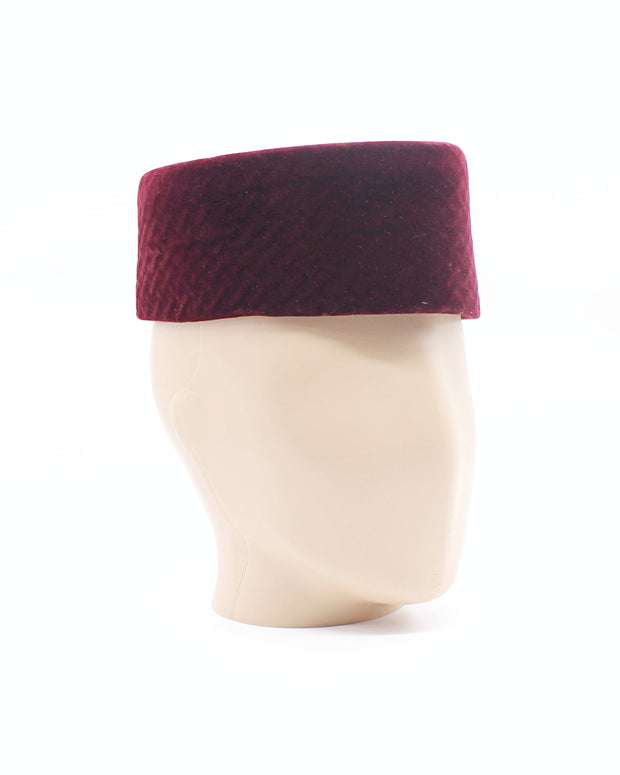 Bordeaux velvet African Kufi hat for men - Afrilege