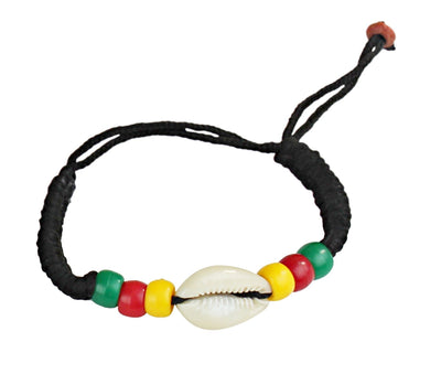 Beaded Cowry Flag Charmed Bracelets - Afrilege