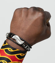 """Diesel for successful living"" Symbol Men Leather Bracelets - Afrilege"