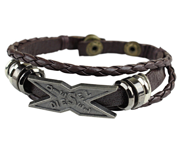 Diesel Symbol Men Leather Bracelets - Afrilege