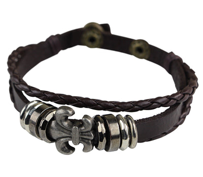 Flower Anchor Leather Bracelets - Afrilege