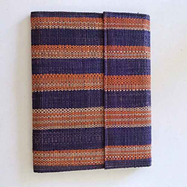 African handmade document holder with press buttons closure ( design/ color varies) - Afrilege