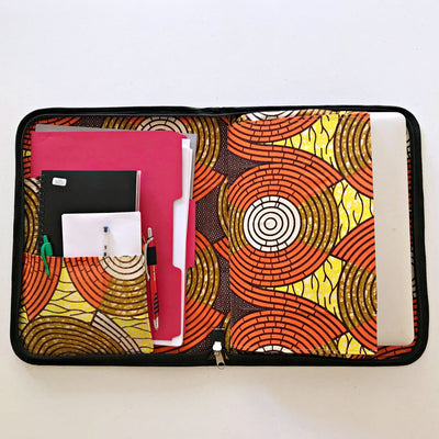 Handmade w/ straw fibers document holder/ computer bag / portfolio - Afrilege