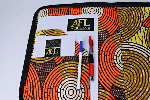 Handmade African natural straw fibers folders/briefcases with zipper - Afrilege