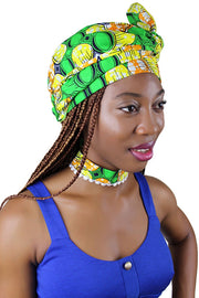 Nakato African Print fabric Choker Necklace - Afrilege